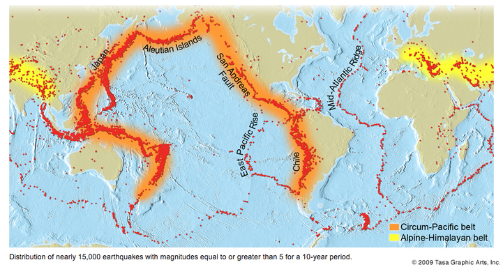 Earthquake and volcano distribution dynamic earth plate tectonics above is a picture which tells the positions of volcanoes and earthquakes on the earth almost all the records show that volcanoes are formed on fault lines gumiabroncs Gallery